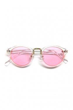 H>FRACTAL- CLEAR SUNGLASS (CLEAR×LIGHT PINK)  GRAPHIC POUCH SET フラクタル サングラス