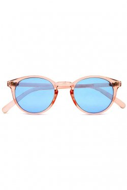 H>FRACTAL- CLEAR SUNGLASS (LIGHT PINK×LIGHT BLUE)  GRAPHIC POUCH SET フラクタル サングラス