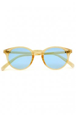H>FRACTAL- CLEAR SUNGLASS (LIGHT YELLOW×LIGHT BLUE)  GRAPHIC POUCH SET フラクタル サングラス