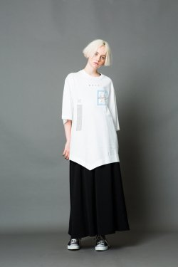MUZE - FACE LAYERD S/S TEE(WHITE)