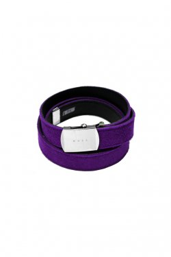 MUZE×O.K - SUEDE LONG BELT (PURPLE×BLACK)
