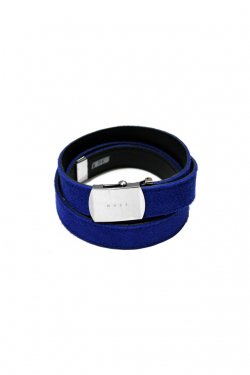 MUZE×O.K - SUEDE LONG BELT (BLUE×BLACK)