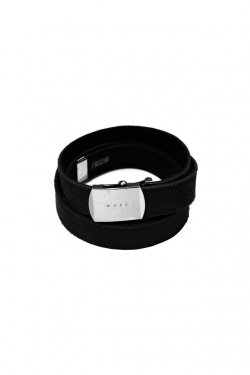 MUZE×O.K - SUEDE LONG BELT (BLACK×BLACK)