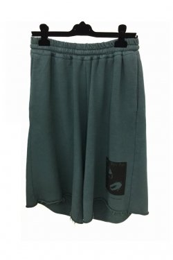 KOMAKINO - JERSEY ELASTICATED SHORTS (GRAY)