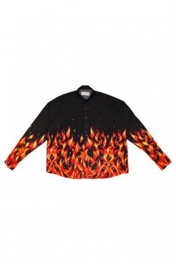 elconductorH - OVERSIZED WESTERN SHIRT 'FLAME コンダクター シャツ