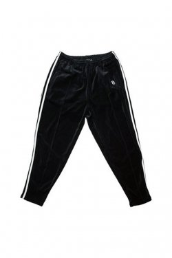elconductorH - DOUBLE LINE JERSEY TROUSERS 'RELAX(BLACK VELOURS)  コンダクター パンツ