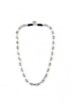 【※受注商品】BLACK TRIANGLE DESIGN - BARBED WIRE chain necklace (SILVER)