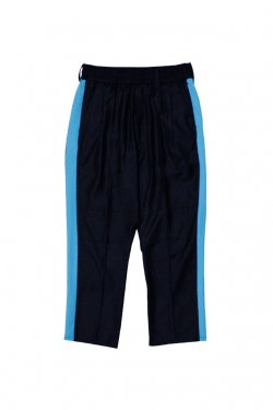 MUZE - BONDAGE PATTERN SIDE LINE SLACKS(LIGHT BLUE)