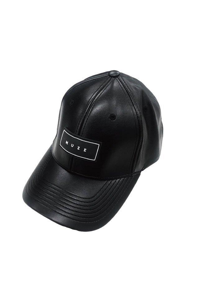 MUZE - LOGO LEATHER CAP (6PANEL)