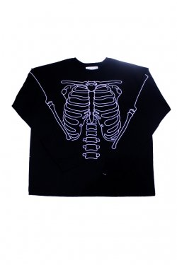 elconductorH - LONG SLEEVE HEAVY T-SHIRT 'BONES コンダクター Tシャツ