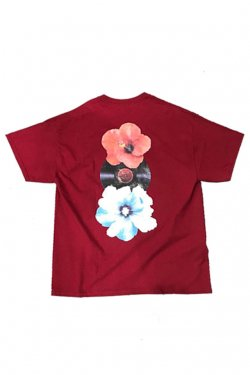 PARADOX × LOYALTY FLOWERS - GRAPHIC TEE (HIBISCUS HOTLINE) (MAROON) パラドックス ロイヤリティーフラワーズ Tシャツ