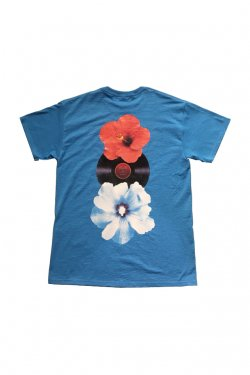 PARADOX × LOYALTY FLOWERS - GRAPHIC TEE (HIBISCUS HOTLINE) (HEATHER BLUE) パラドックス ロイヤリティーフラワーズ Tシャツ