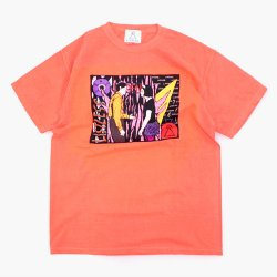 "LISTLESS - ""Ghost World Town""Tシャツ(NEON RED ORANGE)"