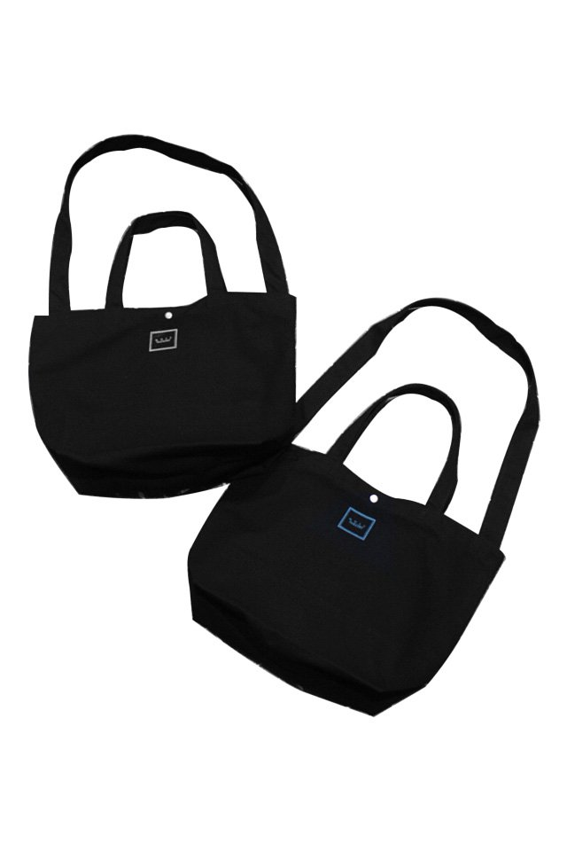 MUZE GALLERY - スーベニア刺繍TOTE BAG (BLACK×WHITE) (BLACK×TURQUOISE)