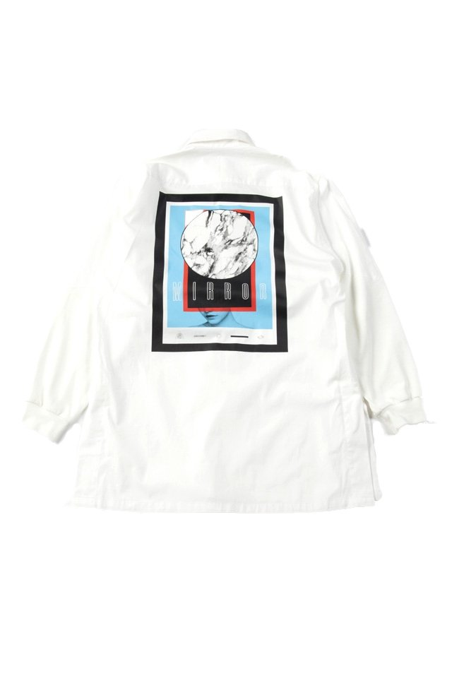 MUZE - SWEAT SLEEVE BIG SHIRTS(WHITE)