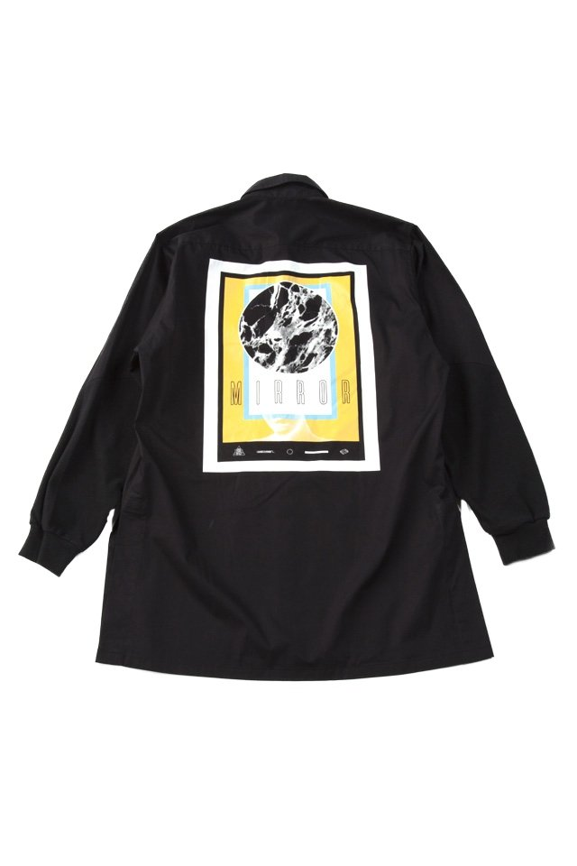 MUZE- SWEAT SLEEVE BIG SHIRTS(BLACK)