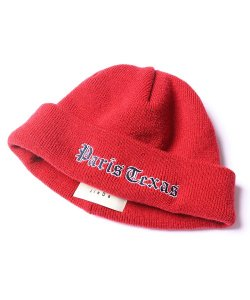 JieDa - EMBROIDERY KNIT CAP(RED)
