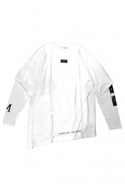 MUZE - LAYERD L/S TEE(WHITE/H>FRACTAL LIMITED)