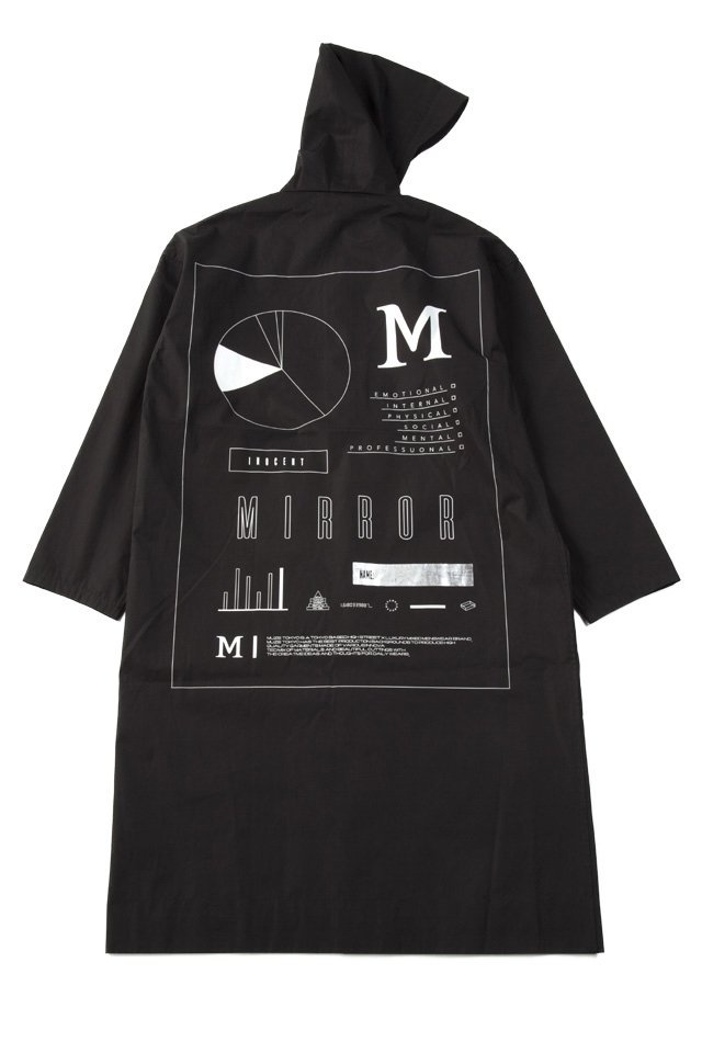 MUZE - RAIN HOODED COAT(BLACK)