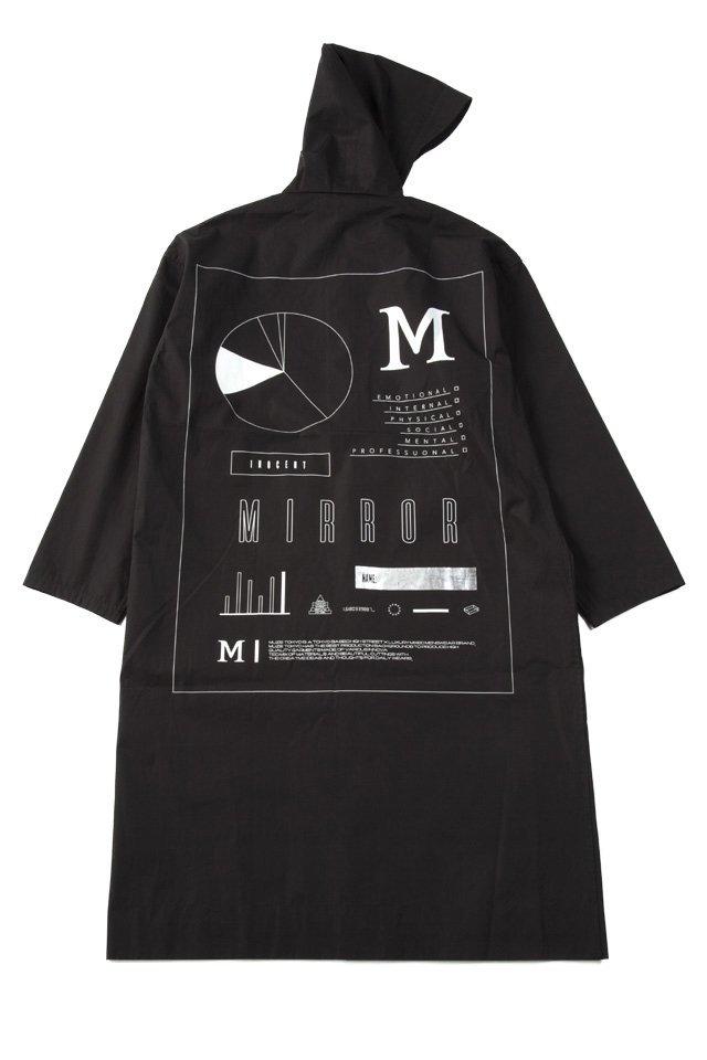 MUZE - RAIN HOODED COAT(BLACK)