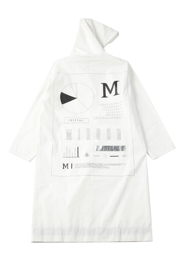 MUZE - RAIN HOODED COAT(WHITE)