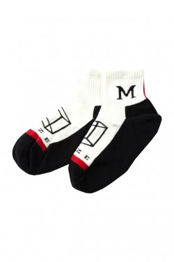 MUZE × LIFE WITH FUN - SHORT SOCKS (RED)