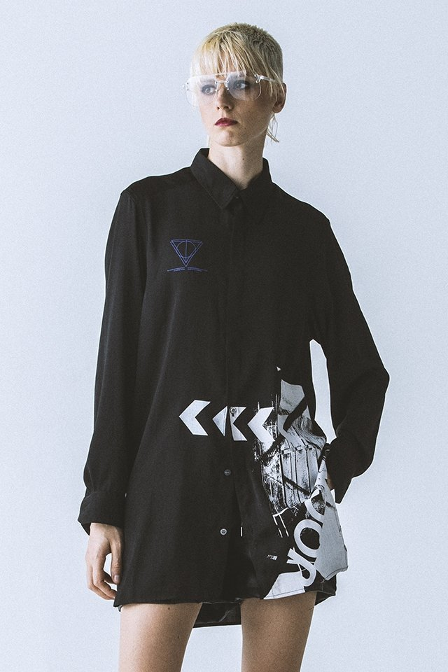 【30%OFF】PARADOX - LONG SHIRTS (BLACK)