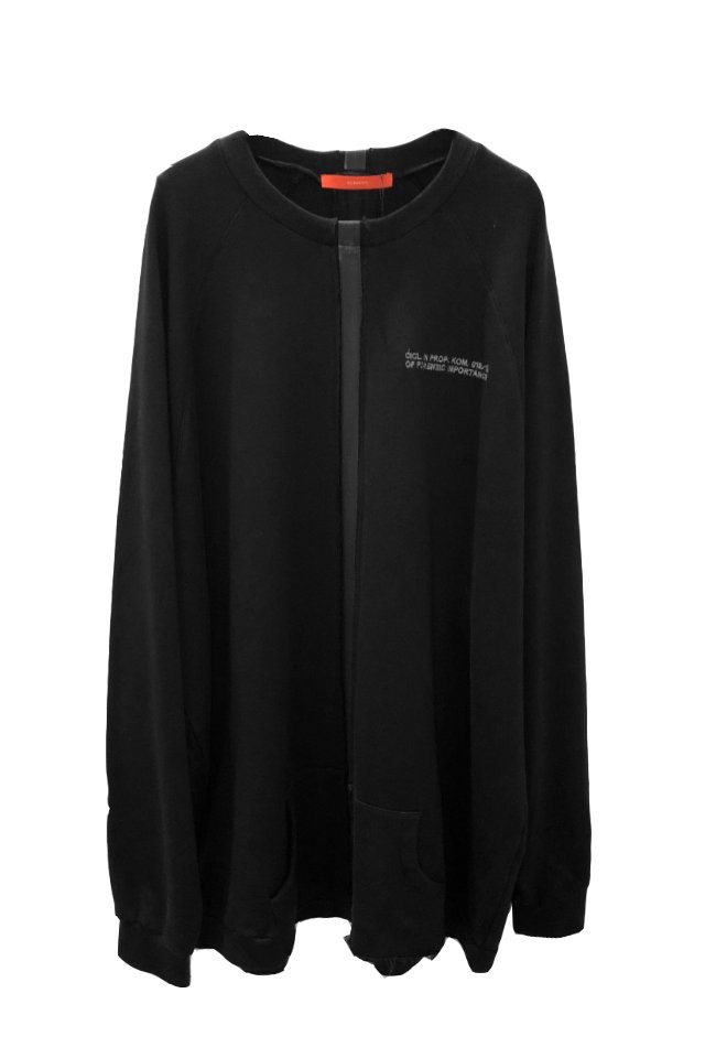 【50%OFF】KOMAKINO - TAPE CREWNECK(BLACK)