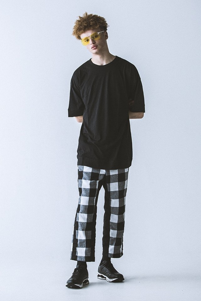 <img class='new_mark_img1' src='https://img.shop-pro.jp/img/new/icons20.gif' style='border:none;display:inline;margin:0px;padding:0px;width:auto;' />【50%OFF】PARADOX - CHECK PANTS (BLK-CHECK) パラドックス チェックパンツ