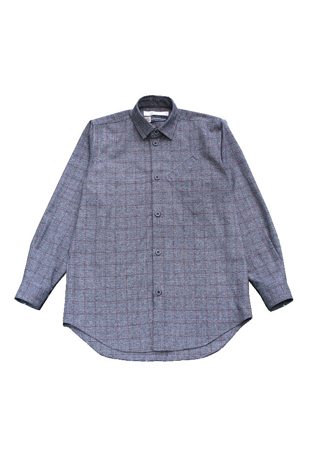 MUZE- URBAN RELAX SHIRTS(BLK×RED)