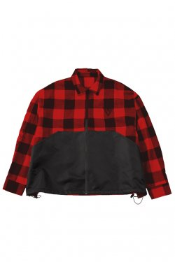 <img class='new_mark_img1' src='//img.shop-pro.jp/img/new/icons20.gif' style='border:none;display:inline;margin:0px;padding:0px;width:auto;' />【50%OFF】PARADOX - ZIP SHIRTS (RED-CHECK) パラドックス ハーフジップシャツ