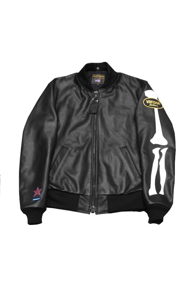 【MUZE GALLERY限定商品】vanson x Encinitas x MUZE - LEATHER TEAM JACKET