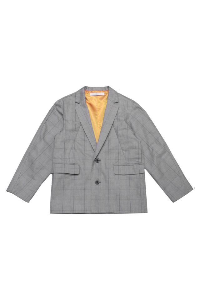 MUZE - MEETING TAILORED JACKET(WHT×BLK)