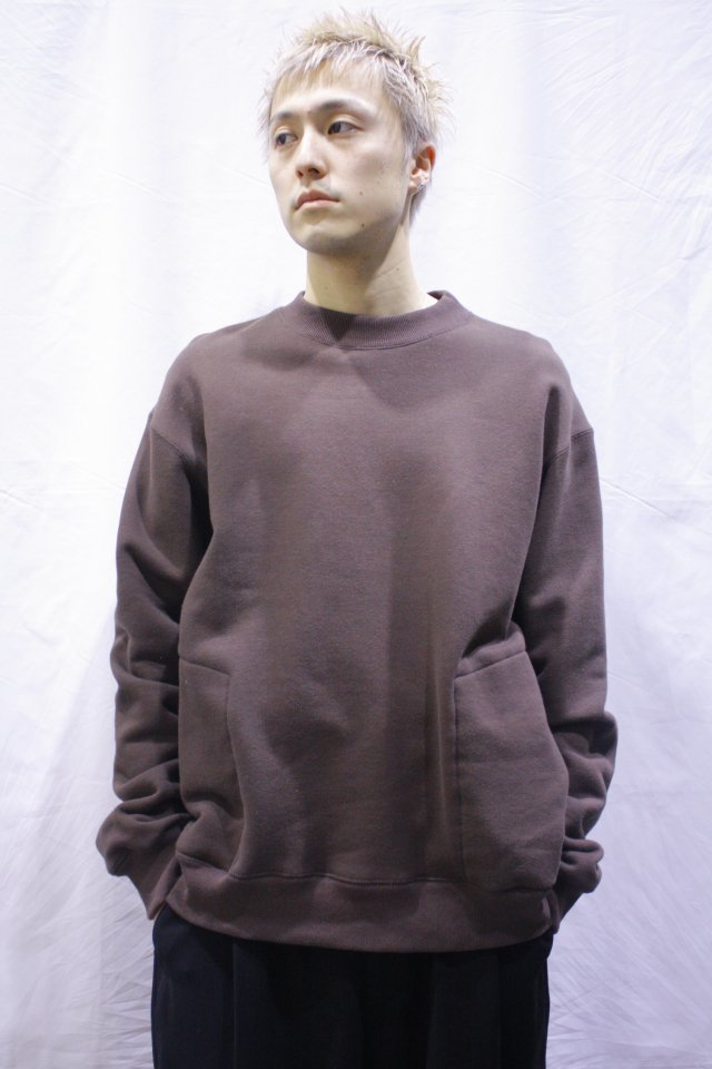 【MUZE GALLERY限定商品】MUZE- CREW NECK SWEAT SHIRT(BROWN) ミューズ  スウェット