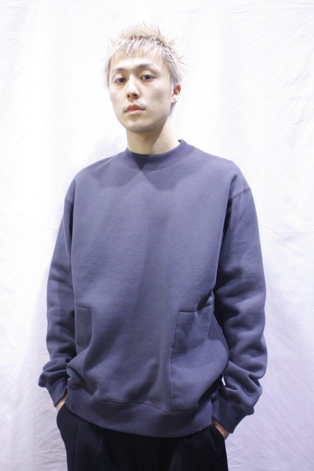 【MUZE GALLERY限定商品】MUZE- CREW NECK SWEAT SHIRT (CHACOAL)