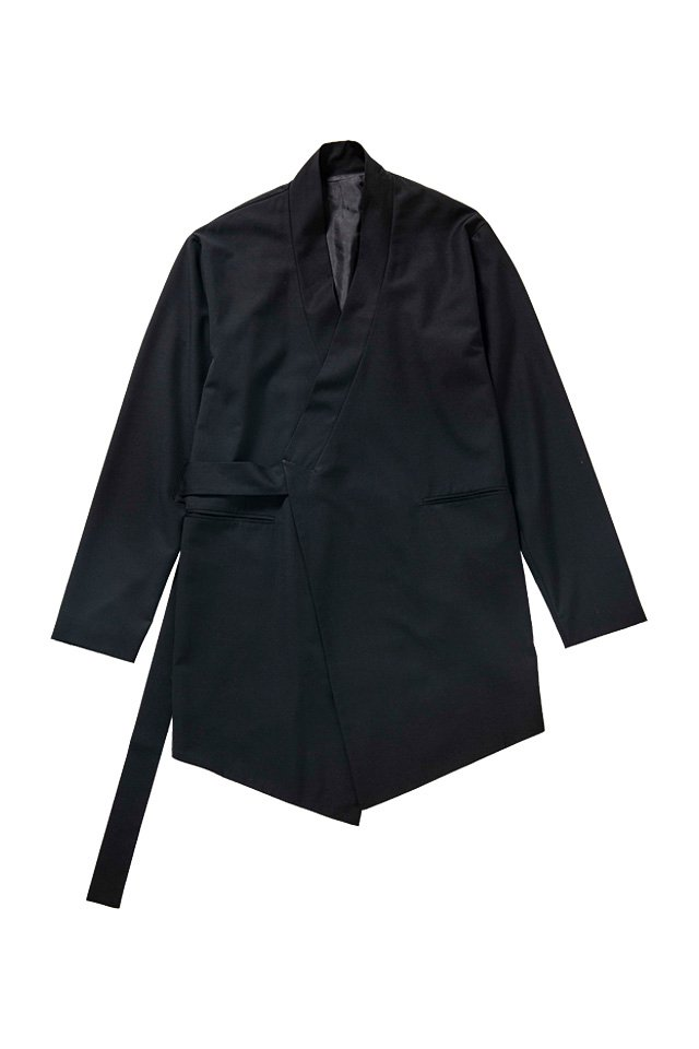 MITSUTSUKI - 作務衣ジャケット(黒)