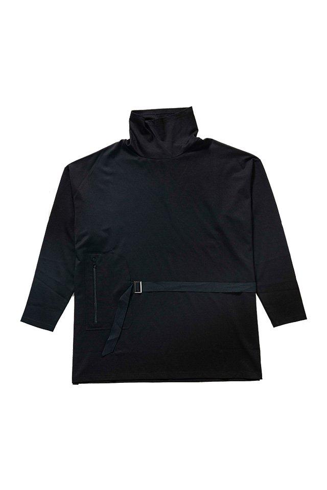 MITSUTSUKI - ハイネックプルオーバー(黒)