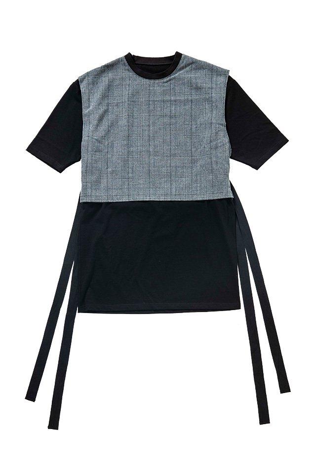 MITSUTSUKI - 重ね着カットソー(黒)