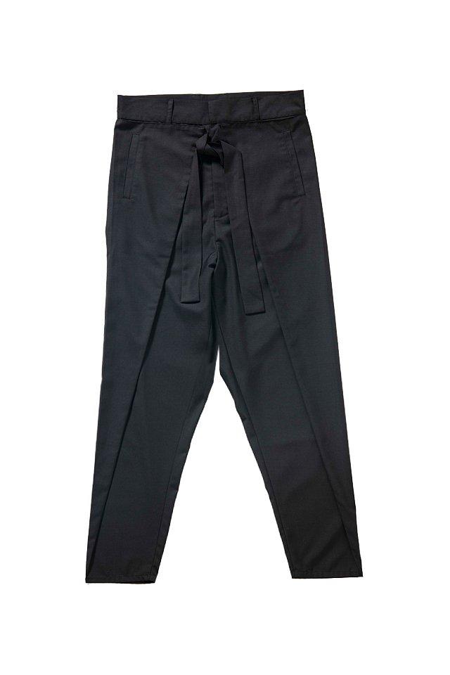 MITSUTSUKI - 作務衣パンツ(黒)