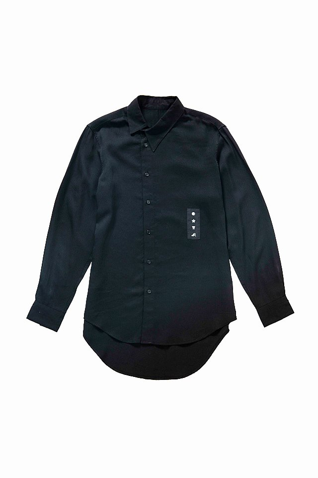 MITSUTSUKI - 斜め襟シャツ(黒)