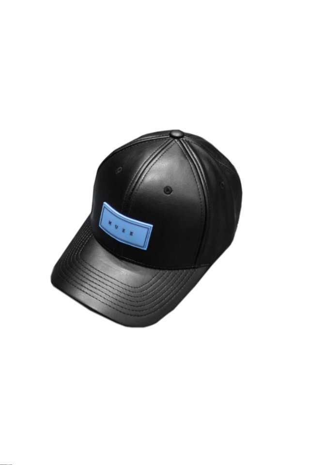 MUZE - LOGO LEATHER CAP ( TURQUOISE)