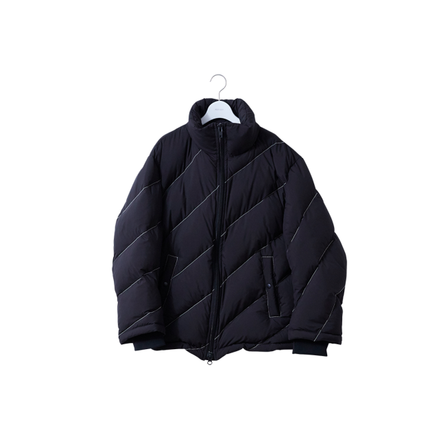 NEON SIGN - REGIMENTAL DOWN JACKET