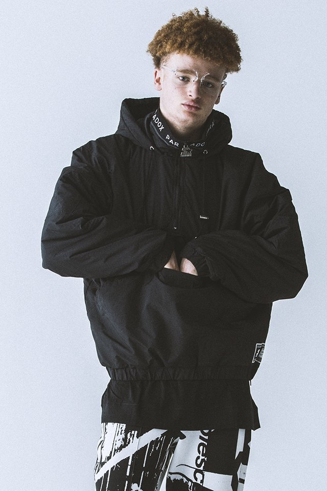 <img class='new_mark_img1' src='https://img.shop-pro.jp/img/new/icons20.gif' style='border:none;display:inline;margin:0px;padding:0px;width:auto;' />【40%OFF】PARADOX - ANORAK JACKET (BLACK) パラドックス  アノラックジャケット