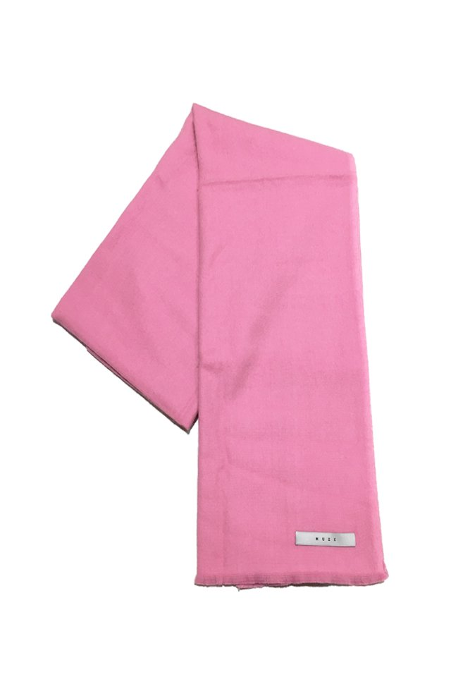MUZE - CASHMERE WOOL SCARF (PINK) ミューズ スカーフ