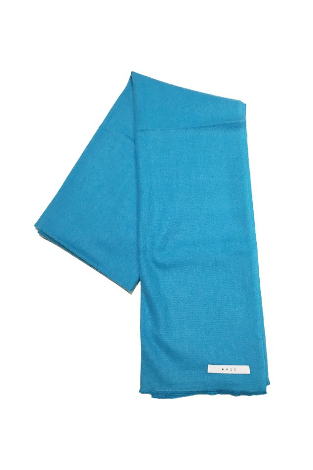 MUZE - CASHMERE WOOL SCARF (TURQUOISE) ミューズ スカーフ