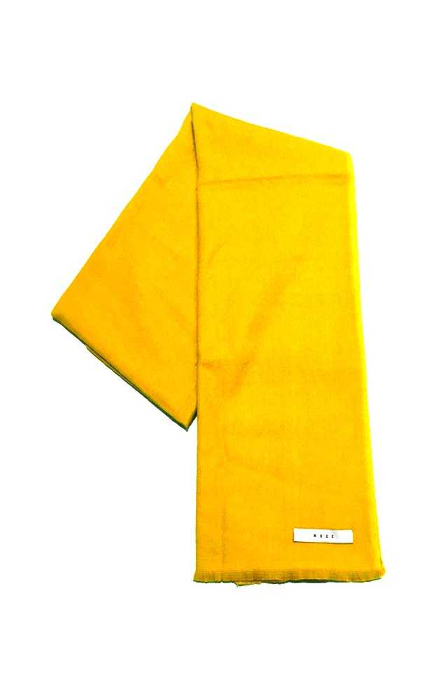 MUZE - CASHMERE WOOL SCARF (YELLOW) ミューズ スカーフ