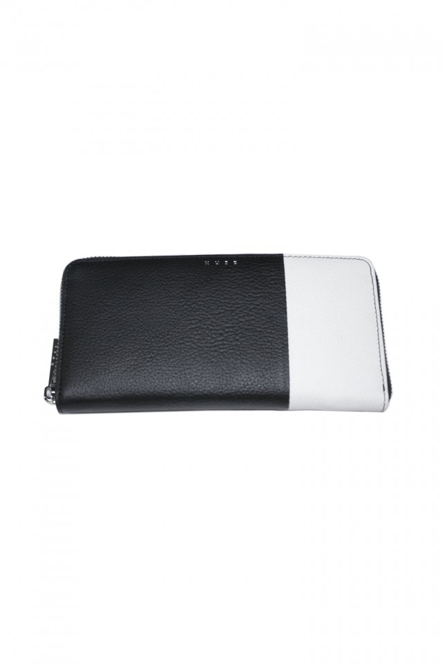 【MUZE GALLERY 限定商品】MUZE - LEATHER WALLET (BLACK × WHITE) ミューズ 財布 ウォレット