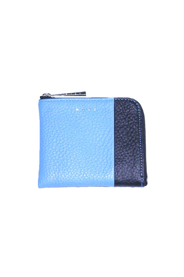 【MUZE GALLERY 限定商品】MUZE - LEATHER COIN CASE (BLACK × TURQUOISE) ミューズ 財布 コインケース