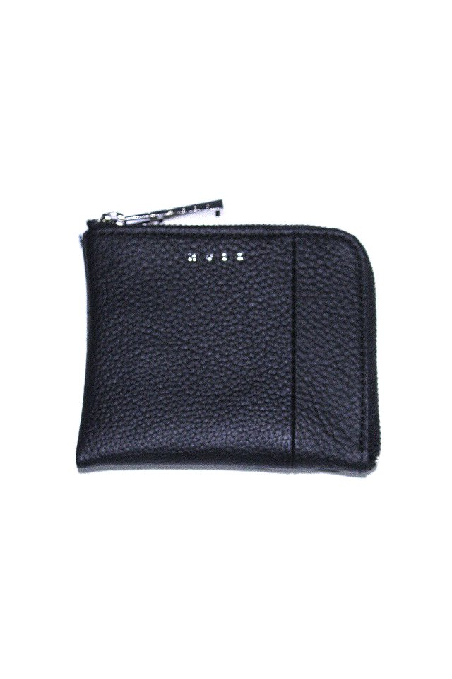 MUZE - LEATHER COIN CASE (BLACK × BLACK)