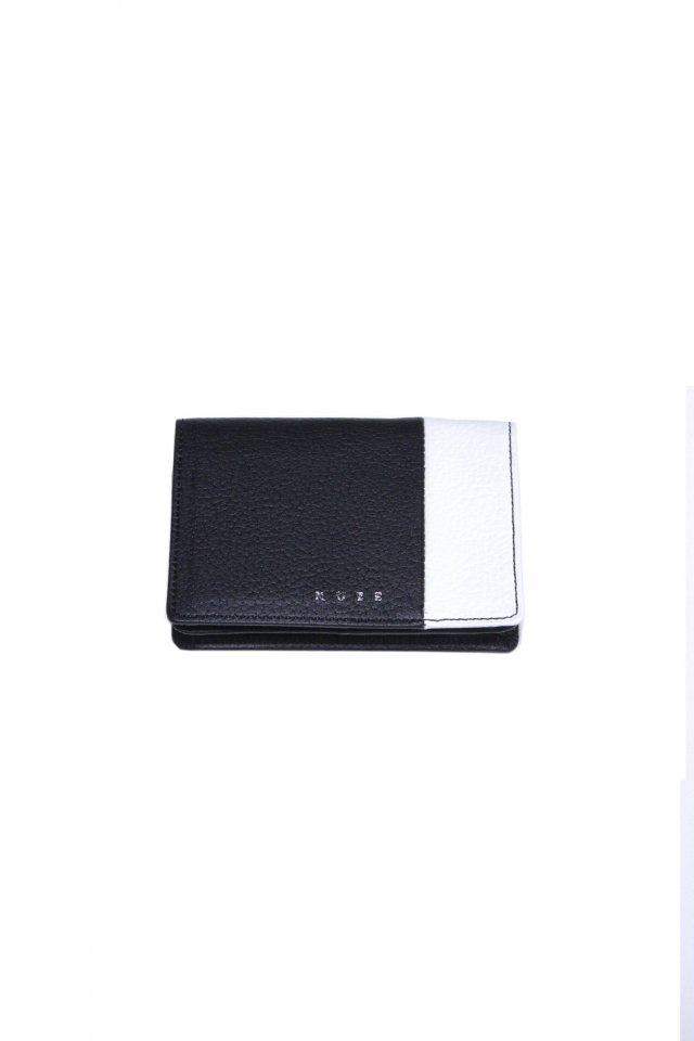 【MUZE GALLERY 限定商品】MUZE - LEATHER CARD CASE (BLACK × WHITE) ミューズ 名刺入れ カードケース
